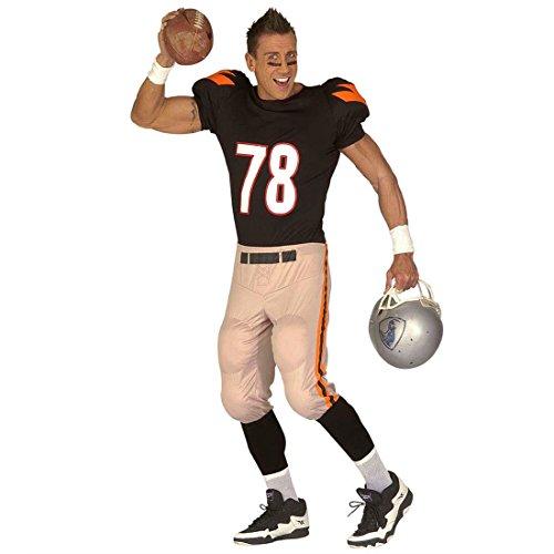 American Football Kostüm Quarterback Player Herrenkostüm XL 54 Footballer Trikot Fasching Footballspieler Faschingskostüm Herren Sport Anzug USA Karnevalskostüm Sportler Amerika Mottoparty Verkleidung Karneval Kostüme Männer