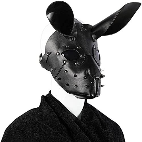 Mascarada Máscara de conejito de Halloween Steampunk Máscara de pico de conejo con orejas Disfraz de adulto negro Fiesta de cumpleaños Cosplay Carnaval Pascua Accesorio de Navidad