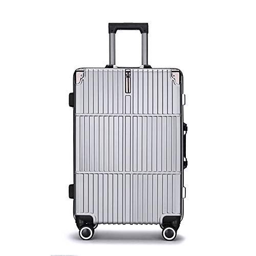 Ang-xj PC suitcase aluminum mine trolley case alloy shell large capacity business leisure student suitcase luggage waterproof,wear-resistant,boarding case,shipping box