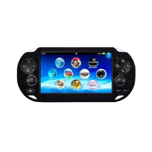 OSTENT Capa protetora colorida de alumínio de metal compatível com console Sony PS Vita PSV cor preta