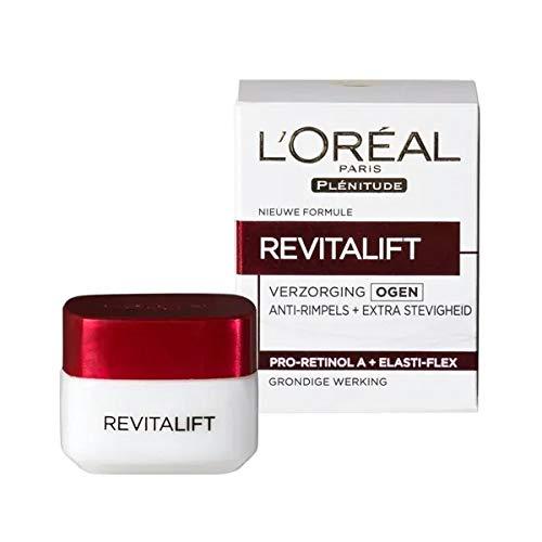 3er Pack - L'Oréal Paris Anti-Falten Augencreme - Revitalift - 15ml