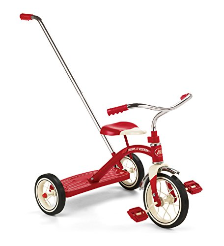 Radio Flyer Classic Tricycle with Push Handle Red