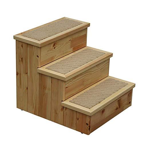 Z-H Interieur hout nachtkastje houten ladder kruk multifunctionele opslag kruk kleur veranderen van zijn schoenen