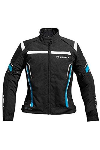 Difi HELEN AEROTEX® Motorradjacke Damen Farbe schwarz/blau/weiß, Farbe schwarz/blau/weiß, Größe 46