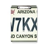 アメリカの自動車免許証の番号のパターン フラットヘッドフォルダーライティングパッドテストA4