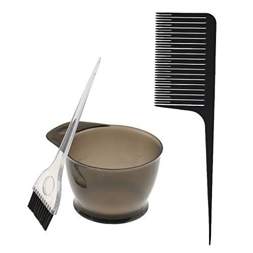 dailymall 3x Couleur De Cheveux Teinte Bol Brosse Armure Mise En évidence Foiling Peigne Barbier Kit