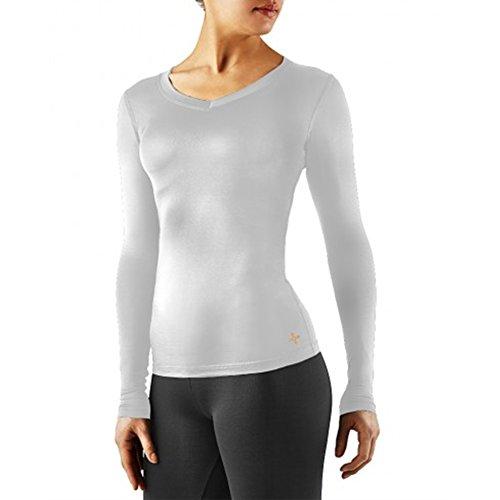 Tommie Kupfer Damen Recovery Ausdauer Long Sleeve V-Ausschnitt Shirt, Damen, weiß, Medium