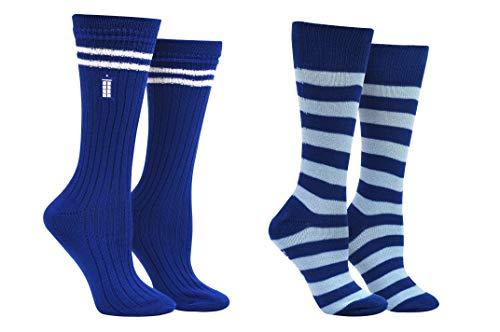 Doctor Who Socken für Damen und Mädchen, 13 Dr. Who Tardis Merchandise Crew-Socken – für Schuhgröße 34-10 (Damen)