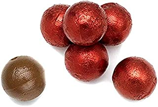 red foil chocolate balls
