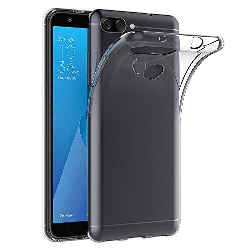AICEK ASUS Zenfone Max Plus (M1) Hülle, Transparent Silikon Schutzhülle für ASUS Zenfone Max Plus ZB570TL Hülle Clear Durchsichtige TPU Bumper Zenfone Max Plus (M1) ZB570TL Handyhülle (5,7 Zoll)