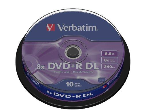 Verbatim dvd+r dl 8x doble capa tarrina 10 uds