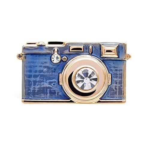 PicZhiwenture Brosche 3 Farben Wählen Emaille Kamera Brosche Mode Abzeichen Kreative Für Frauen Und Männer Unisex Pins Icon Kinder Geschenk-blau