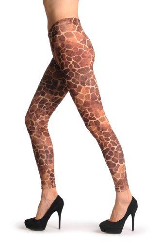 LissKiss African Giraffe - Rot Leggings Einheitsgroesse (34-40)