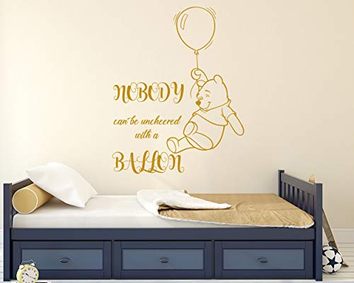 Muurstickers Quote Vinyl Stickers Ballon Decals Lettering Teddy Beer Muur Kunst Kwekerij Kids Slaapkamer Decor Goud Decor NL147