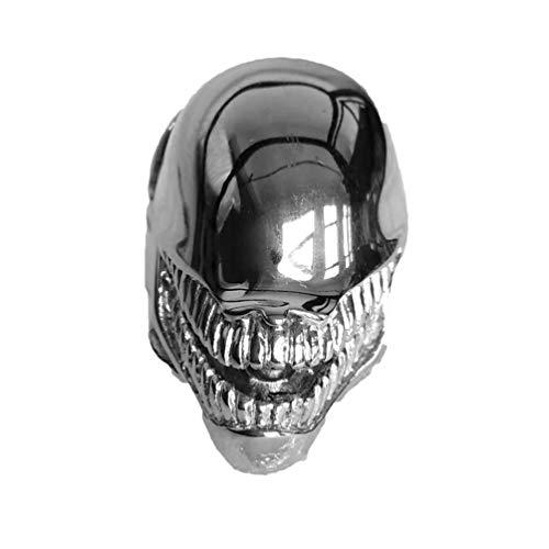 HQLCX Punkring-Alien-Krieger Ringe Kühle Schmucksachen Tierschädel Biker-Ring für Männer,9