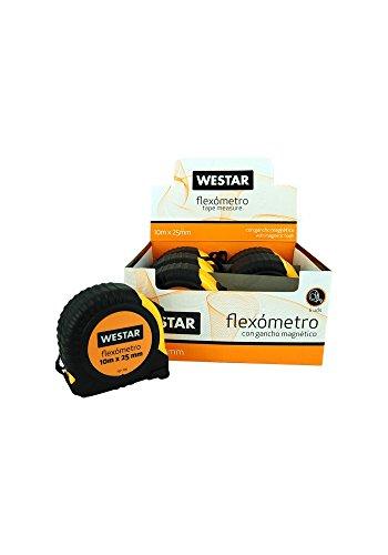 WESTAR 8435353706071 6 flexometros con Gancho magnético de 10mx25mm