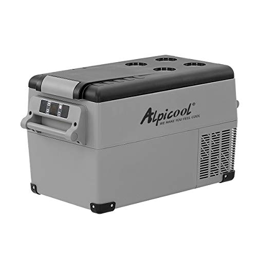 Alpicool CF35 35 Litri Frigoriferi Portatile Elettrico Frigorifero per Auto Congelatore 12V 24V DC/AC Mini Frigo per Viaggio, Picnic, Campeggio Uso Esterno, da -20℃ a 20℃