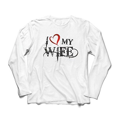 T-shirt, lange mouwen, voor heren, opschrift