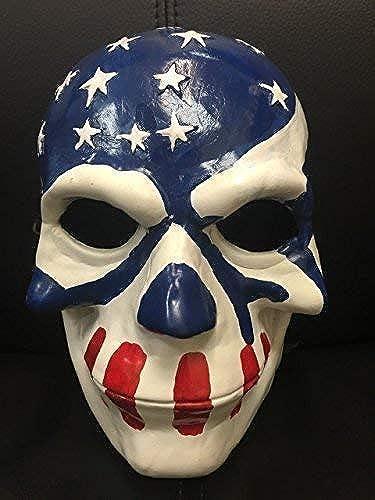 WRESTLING MASKS UK The Purge 'Wahl Year Film; USA Flagge Deluxe Glasfaser Maske mit Verstellbare Schnalle