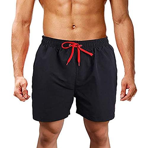 Einfarbig Shorts Sporthose Herren Jungen mit Mesheinsatz Schnelltrocknende Kurze Hosen Männer Beachshorts Boardshorts Strand Shorts Trainingshose Verstellbarem Tunnelzug Fitnesshose Modisch Badehose