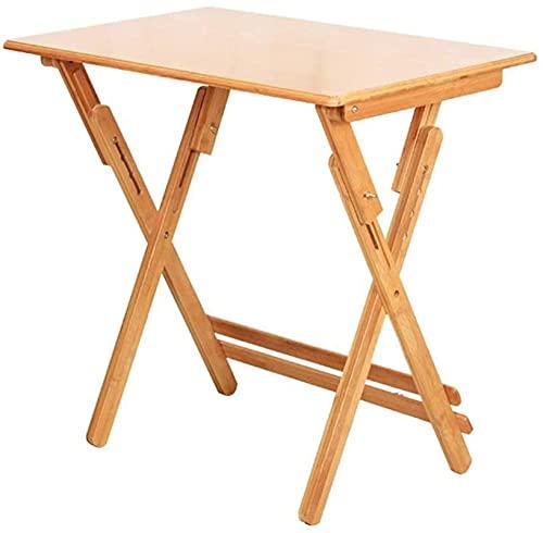 GWFVA - Mesa de elevación de madera maciza de 4 alturas, ajustable, escritorio para niños, plegable, portátil, escritorio, altura de 70/80 cm opcional, tamaño 80 cm a 70 cm