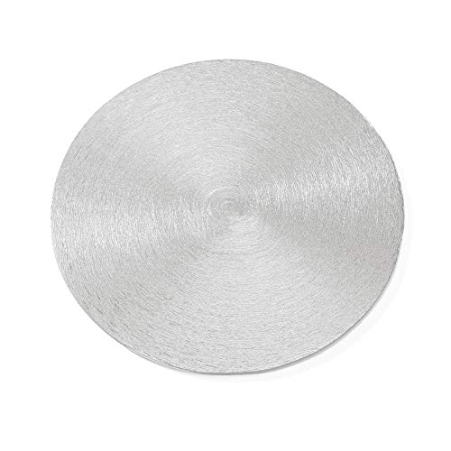 NKlaus 4X Plato para Velas �  12cm Aluminio