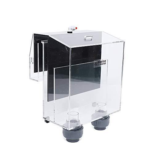 OUKANING Sob-2 Caja de desbordamiento para acuarios Caja de desbordamiento Colgante Caja de desbordamiento del Filtro de Agua Caja Grande de desbordamiento Negro, desbordamiento de sifón