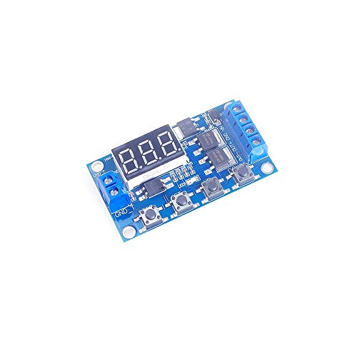 ANGEEK DC 12V 24V Dual MOS Tube LED Digital Time Delay Relay Trigger Cycle Timer Delay Switch Circuit Board Timing Control Module