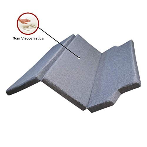 KFoam.es Folding Mattress with Memory Foam for Volkswagen, 185 x 148 x 8 cm