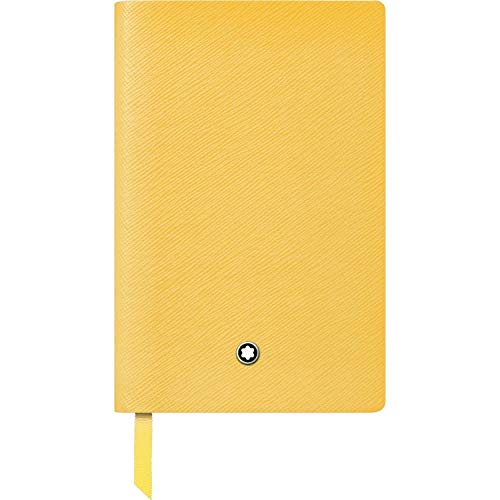 Montblanc 125883 - Taccuino #148, copertina in pelle giallo, pagine a righe, 14 x 9 cm