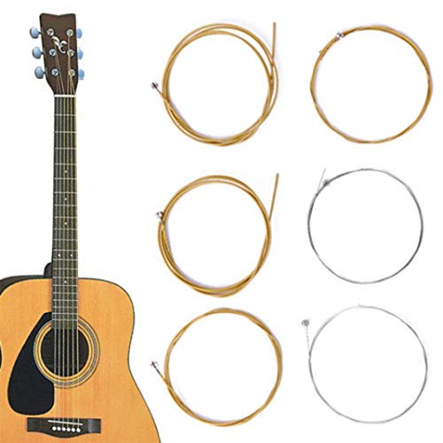 YSHTAN gitaarsnaren orkestrale instrumentsnaren 6 stks/1 set bronsstalen snaren warm gebalanceerde toon voor akoestische gitaar 150XL