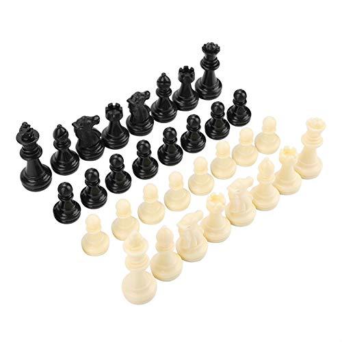 DAUERHAFT Ajedrez magnético Interactivo 32 Piezas Pieza de ajedrez de plástico Duradero para una Superficie Lisa Divertida
