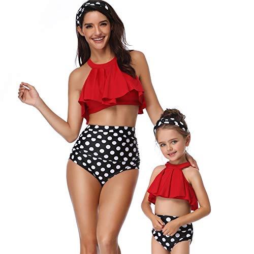 XUANYA Bañador De Mujer,Familia A Juego Sexy Y Elegante Bikini Mujeres Traje De Baño Madre Niña Traje De Baño Niños Elasticidad Cómodo Traje De Baño Regalo Creativo
