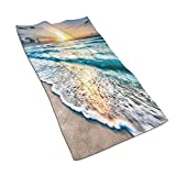 CIKYOWAY Toalla de Mano Amanecer sobre la Playa en Cancún Toalla de baño pequeña multipropósito para baño,Manos,Cara,Gimnasio y SPA súper Absorbente Ultra Suave 40x70cm