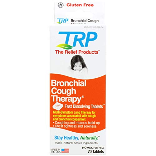 The Relief Products Bronchial Cough Therapy Fast Dissolving Tablets, 70 Count