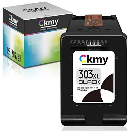CKMY Remanufactured 303 XL Tintenpatrone als Ersatz für HP 303XL (1 Schwarz) für Envy Photo 7134 7830 6232 6230 7130 6220 6234 7100 7155 7800 7834 7855 7864 6222 6252 Tango X