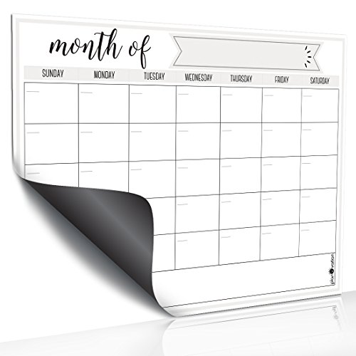 Magnetic Dry Erase Refrigerator Calendar by planOvation | Large Calendar Whiteboard Monthly Planner Magnet