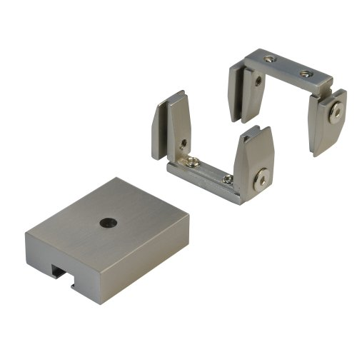 Liedeco Befestigungsset für Deckenabhängung - Stilgarnitur Cubis (eckig) | Nickel-matt | 1 Set