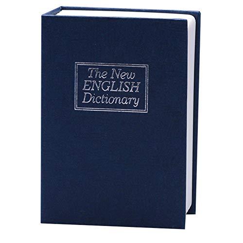 Lankater Diccionario Forma Caja Libro Dinero Escondido Bloqueo Efectivo de la Moneda Caja de Almacenamiento Llave de la taquilla (Color al Azar)