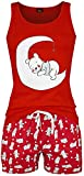 Winnie the Pooh Punkte Frauen Schlafanzug rot S 10