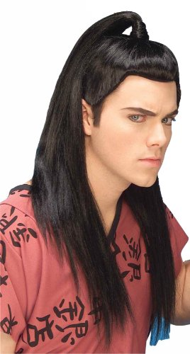 Forum Novelties Men's Adult Asian Warrior Costume Wig, Black, One Size