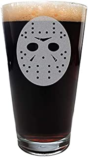 Minimalist FRIDAY THE THIRTEENTH Scary Movie Mask Pint Size Drinking Glass