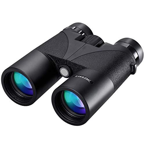 TZZ Jumelles 12x42 imperméables pour Adultes. Prisme binoculaire Compact léger BAK4, Jumelles HD pour l'observation des Oiseaux