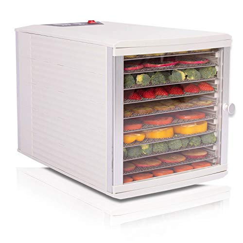 Cheapest Price! JAYETEC Food Dehydrators, 10 Trays staniless steel trays with digital adjustable,tem...