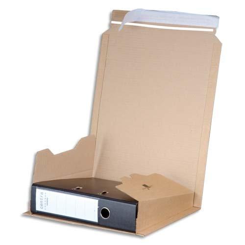 Smartbox Pro Versandkarton für Ordner (verschließbar mittels Klebestreifen, Innenmaß 320 x 35-80 x 290 mm)