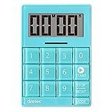 dretec(ドリテック) デジタルタイマー キュービック 音と光で時間をお知らせ 無音機能付き T-549BL ブルー