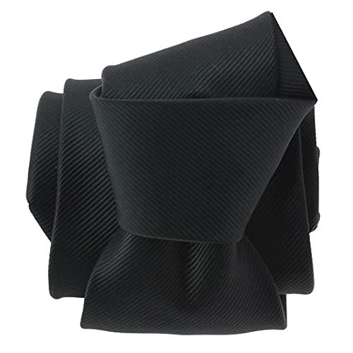 Clj Charles Le Jeune. Cravate. Monochrome, Microfibre. Noir, Uni.