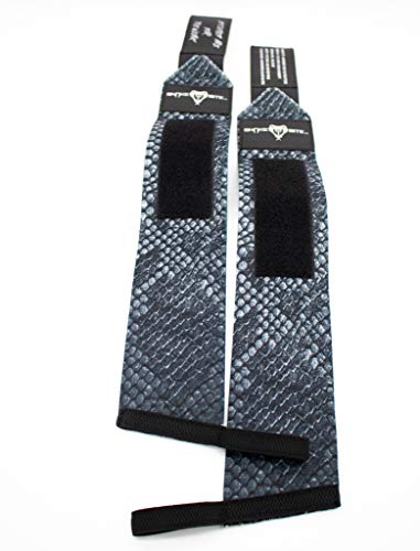 SNAKE BITE FITNESS Wrist Wraps for Weightlifting - Straps with Thumb Loop Wrist Support - Lifting Wrist Brace for Men and Women - Workout Wrist Strap for Bodybuilding, Crossfit - 3 x18