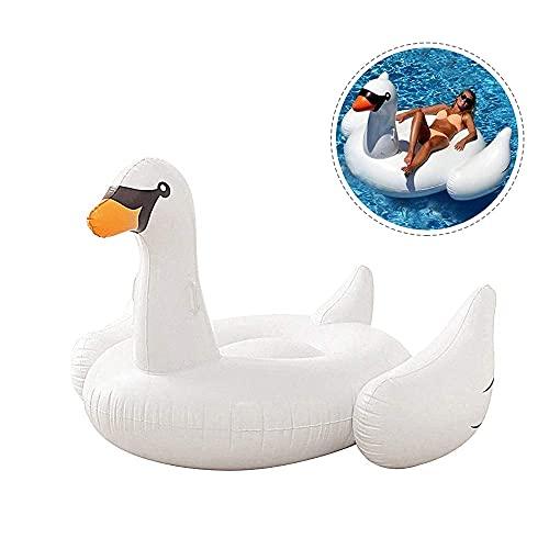 YEEGO Balsa inflable gigante de agua flotante piscina tumbona playa deportes juguete cisne