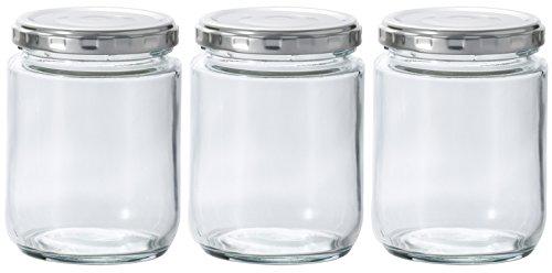 アデリア ガラス 保存瓶 クリア 250ml ツイストキャップ容器 3個セット 日本製 M-6522